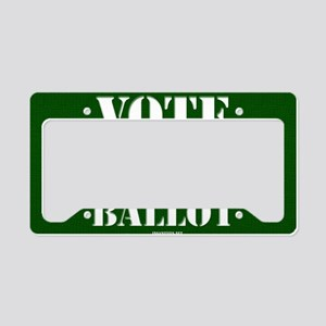 VOTE as if no one else gets a License Plate Holder