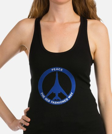 B-1B - Peace The Old Fashioned  Racerback Tank Top