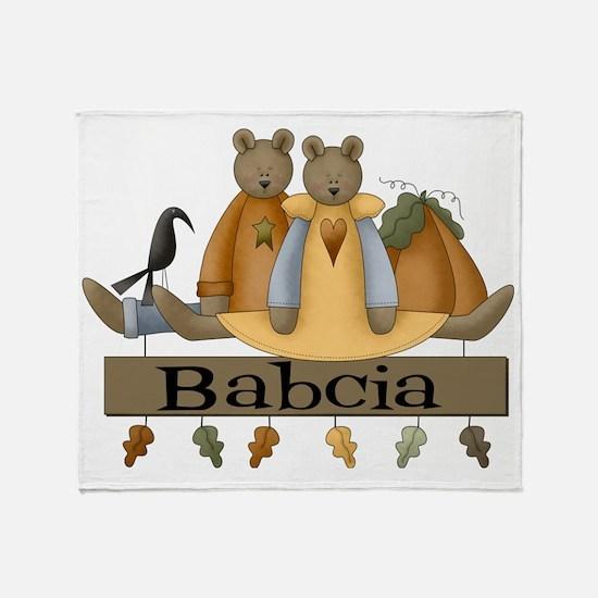 Autumn Babcia Throw Blanket