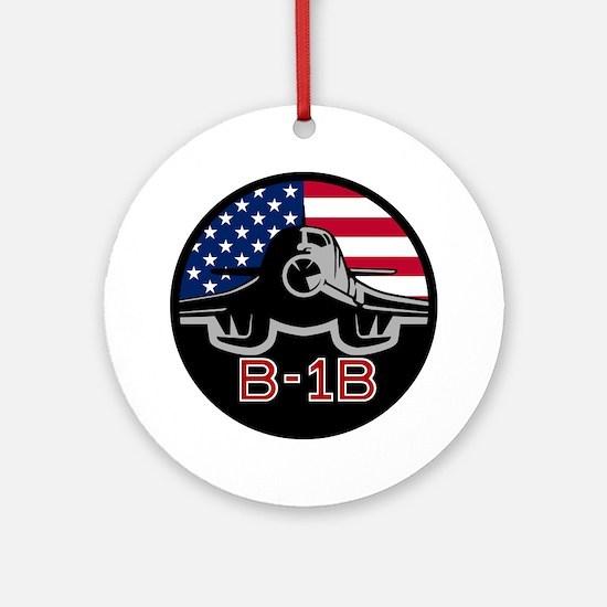 B-1B Bone Round Ornament