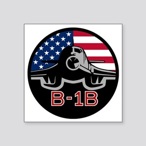 "B-1B Bone Square Sticker 3"" x 3"""