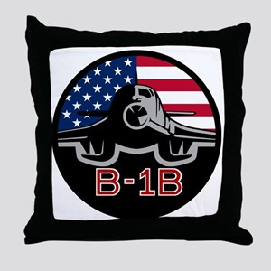 B-1B Bone Throw Pillow