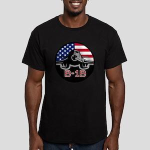 B-1B Bone Men's Fitted T-Shirt (dark)