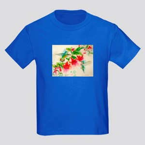 Hummingbirds in Fuschia Garden 2 T-Shirt