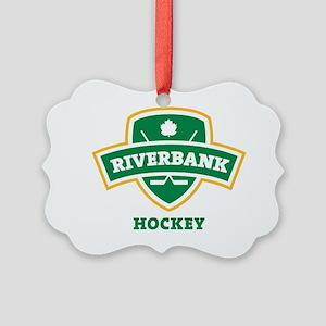 Riverbank Shield Transparent Picture Ornament
