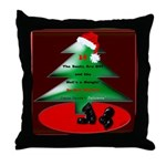 Christmas Santa's Deliverin' Throw Pillow