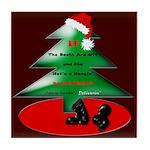 Christmas Santa's Deliverin' Tile Coaster
