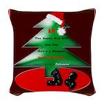 Christmas Santa's Deliverin' Woven Throw Pillow
