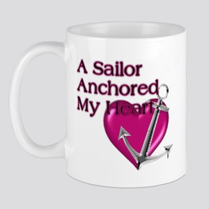 A Sailor Anchored My Heart Mug