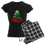 Christmas Santa's Deliverin' Women's Dark Pajamas