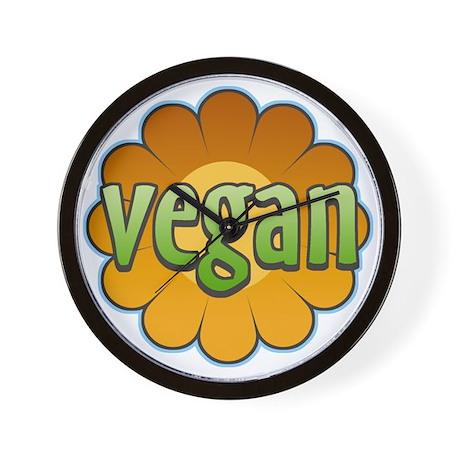 Vegan Flower Wall Clock