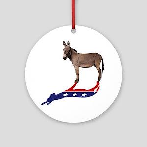Dem Donkey Shadow Round Ornament