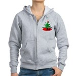 Christmas Santa's Deliverin' Women's Zip Hoodie