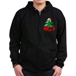 Christmas Santa's Deliverin' Zip Hoodie (dark)