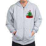 Christmas Santa's Deliverin' Zip Hoodie