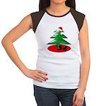 Christmas Santa's Deliverin' Women's Cap Sleeve T-
