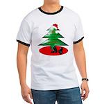 Christmas Santa's Deliverin' Ringer T