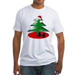 Christmas Santa's Deliverin' Fitted T-Shirt