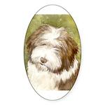 Bearded Collie Oval Sticker