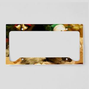Christmas Snoozing License Plate Holder