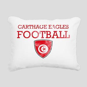 Carthage Eagles Rectangular Canvas Pillow