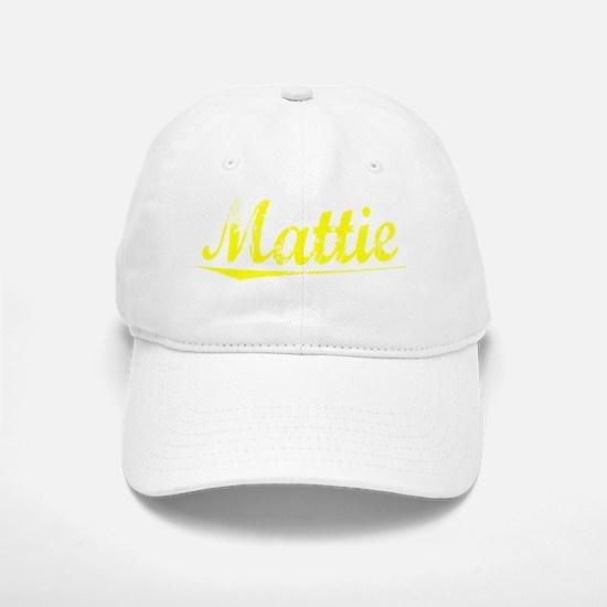 Mattie, Yellow Baseball Baseball Cap