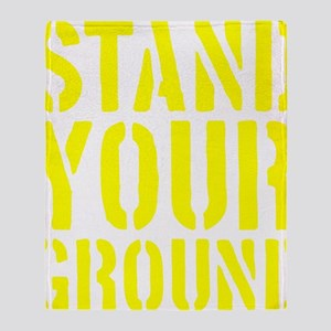 Stand Your Ground Throw Blanket