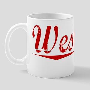 Westover, Vintage Red Mug