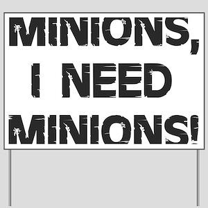 Minions Yard Sign