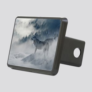 Beautiful Wolves In The Winter Rectangular Hitch C