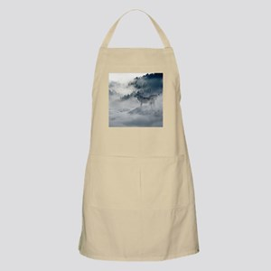 Beautiful Wolves In The Winter Light Apron