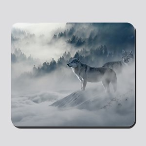 Beautiful Wolves In The Winter Mousepad
