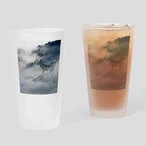 Beautiful Wolves In The Winter Drinking Glass