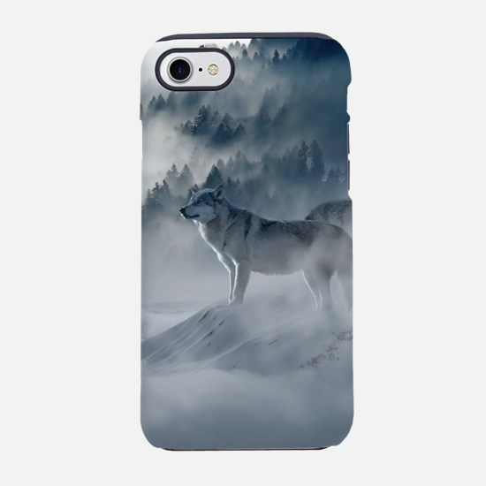 Beautiful Wolves In The Winter iPhone 7 Tough Case