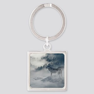 Beautiful Wolves In The Winter Keychains