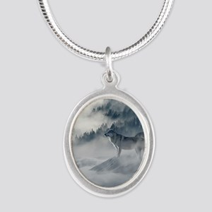Beautiful Wolves In The Winter Necklaces