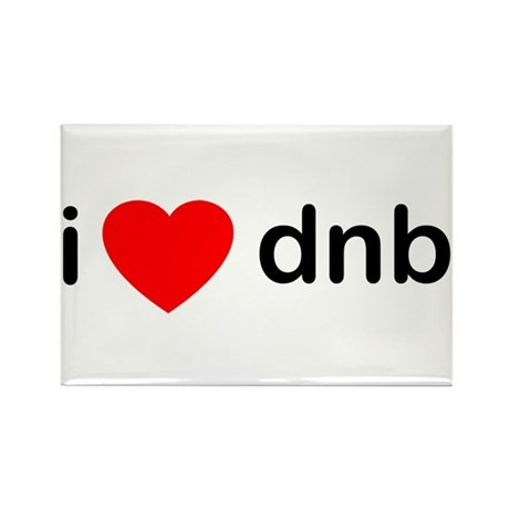 I Love Drum And Bass Rectangle Magnet (100 pack)