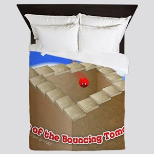 Fan of the Bouncing Tomato Queen Duvet