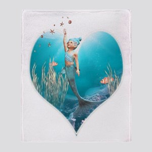 Little Mermaid 1 Throw Blanket