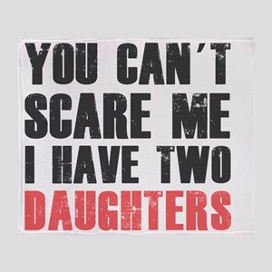 I have two daughters Throw Blanket