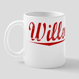 Willoughby, Vintage Red Mug