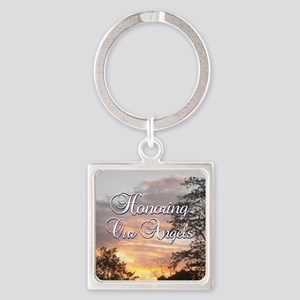 Honoring Our Angels Square Keychain
