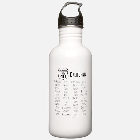 US Route 40 California Water Bottle