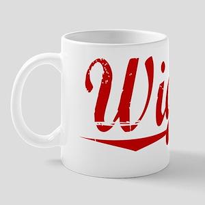 Wiggin, Vintage Red Mug
