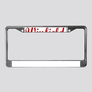 Winfield, Vintage Red License Plate Frame