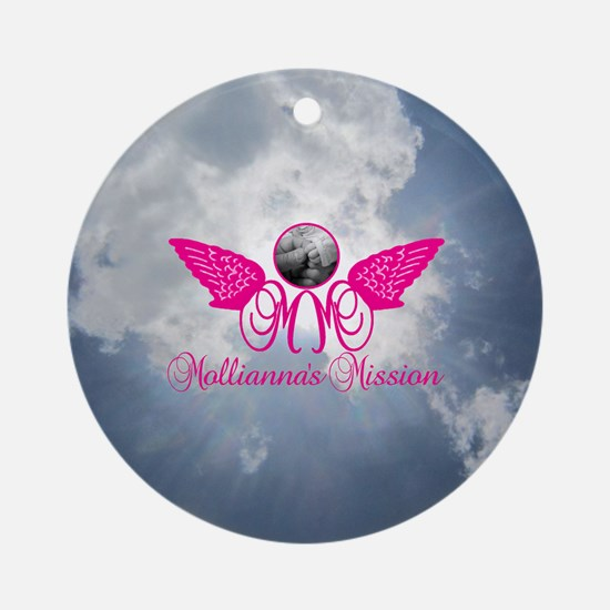 Molliannas Mission Inc. Round Ornament