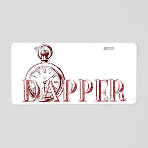 Dapper Pocket Watch Autumn  Aluminum License Plate