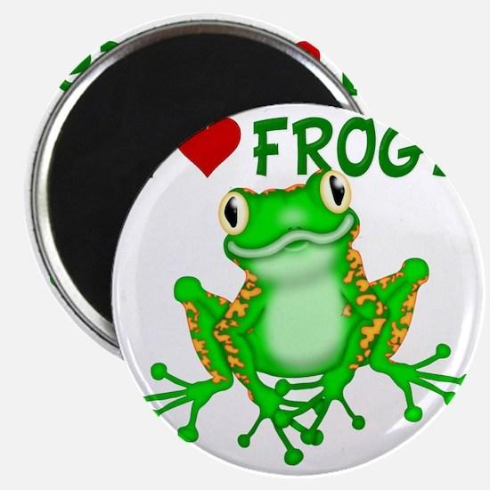 I  Love (Heart) Frogs Magnet