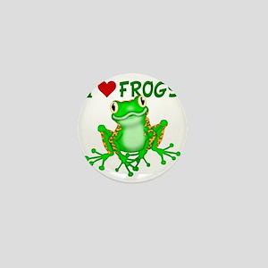 I  Love (Heart) Frogs Mini Button