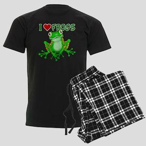 I  Love (Heart) Frogs Men's Dark Pajamas